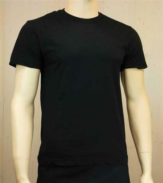 T-Shirt man - zwart, maat L