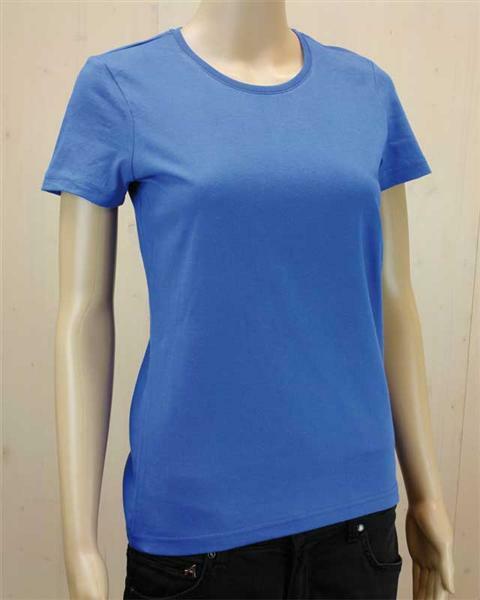T-shirt vrouw - blauw, L