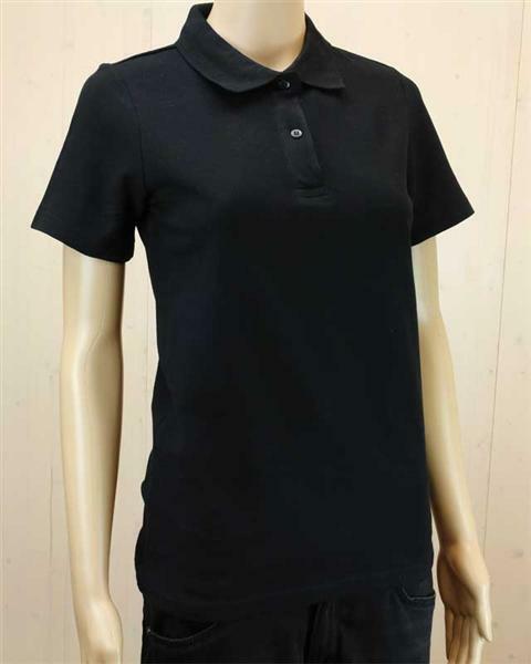 Poloshirt voor vrouw - zwart, L