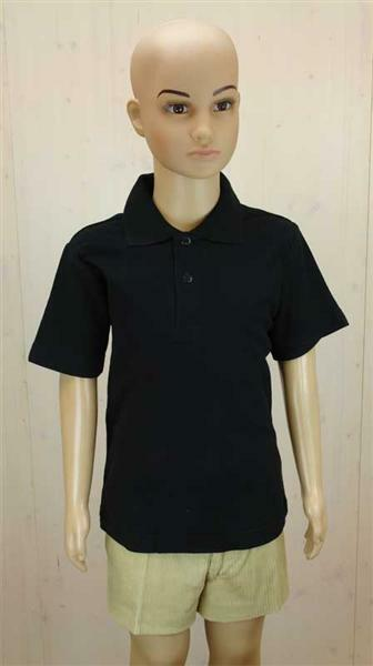 Polo-Shirt Kinder - schwarz, L
