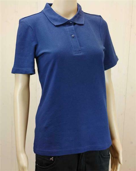 Poloshirt voor vrouw - donkerblauw, L
