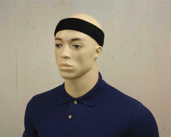 Zweetband - hoofd, zwart