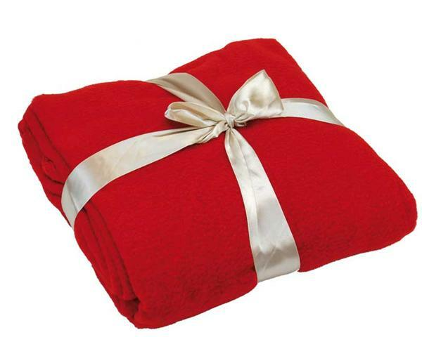 Fleece deken - 130 x 170 cm, rood