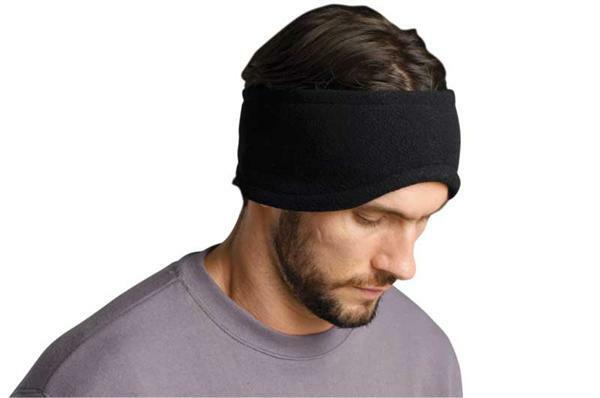 Fleece hoofdband - zwart, grootte 55
