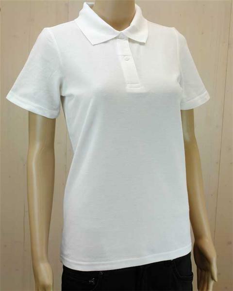 Poloshirt voor vrouw - wit, L