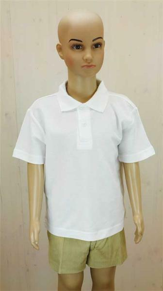 Polo-Shirt Kinder - weiß, XS