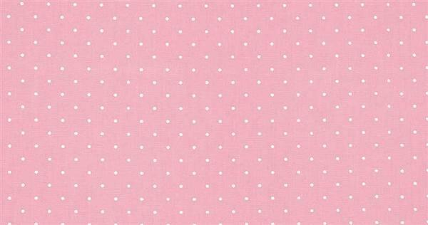 Tissu coton - à motifs, points rose/blanc