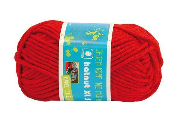 Wol hatnut XL 55 - 50 g, rood