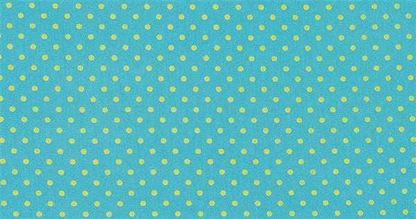 Tissu coton - à motifs, Points turquoise/vert
