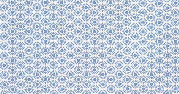 Tissu coton - à motifs, Fleurs bleues