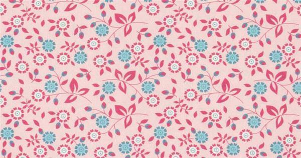 Tissu coton - à motifs, Motifs floraux