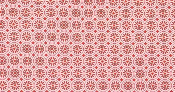 Tissu coton - à motifs, Fleurs rouge/rose