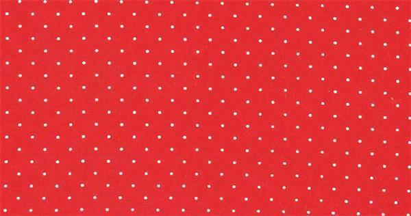 Baumwollstoff - gemustert, rot/weiße Punkte
