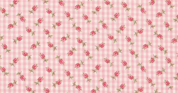 Tissu coton - à motifs, Motifs rose rose