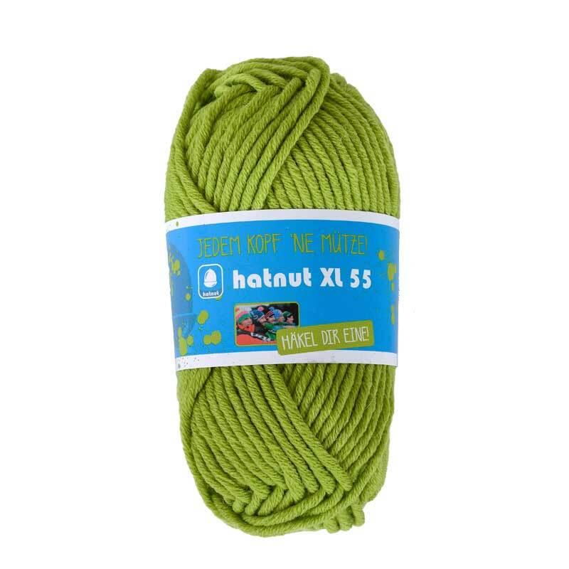 Wol hatnut XL 55 - 50 g, lichtgroen
