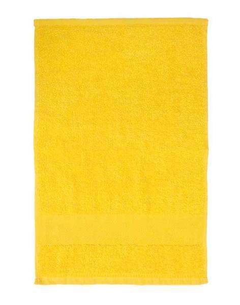 Gastendoekje/handdoek - ca. 30 x 50 cm, geel