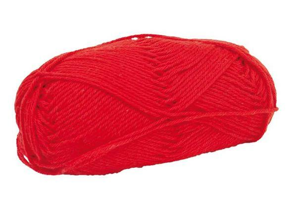 Wol Cotton Fun - 50 g, rood