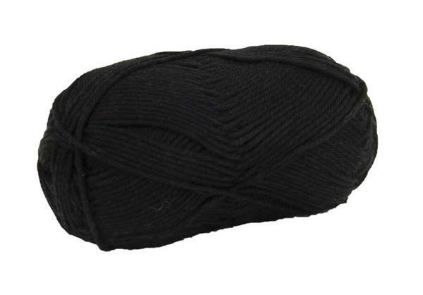 Wolle Cotton Fun - 50 g, schwarz