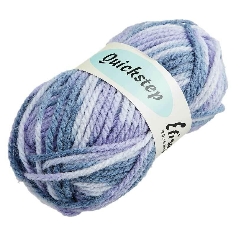 Wolle Quickstep - 50 g, Farbmix grau - violett