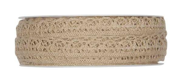 Dentelle au crochet - 10 m, naturel