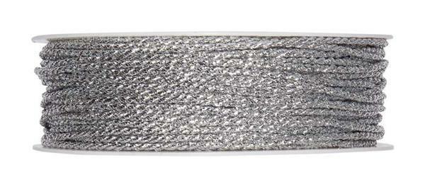 Corde Lurex - argent, Ø 2 mm