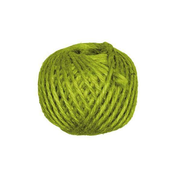 Jutekordel - Ø 3 mm, grün
