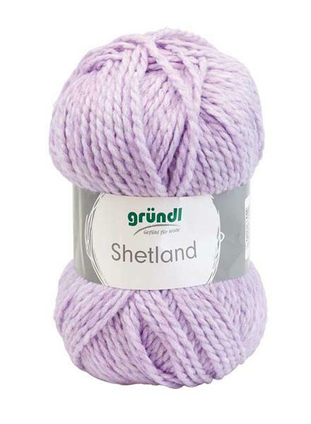 Laine Shetland - 100 g, mélange lilas