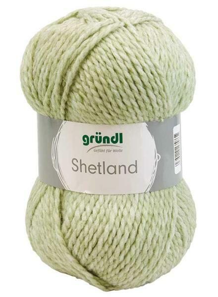 Wolle Shetland - 100 g, moos melange