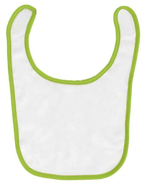 Baby slabbetjes - 22 x 32 cm, wit/groen