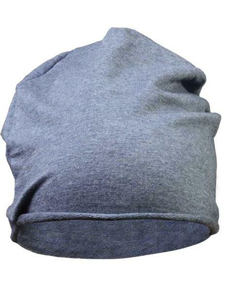 Jersey Beanie muts - one size, jeansblauw
