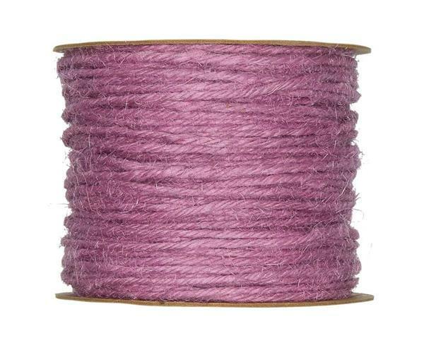 Jutekordel - Ø 2 mm, lavendel
