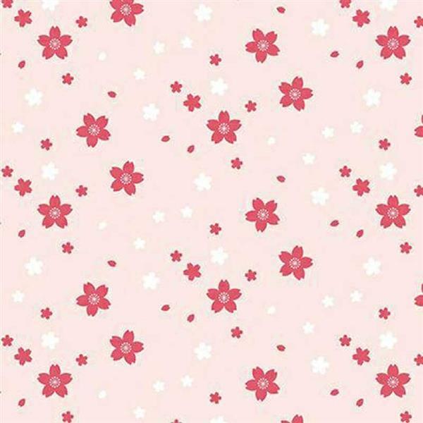 Katoenen stof - bedrukt, kleine bloemen