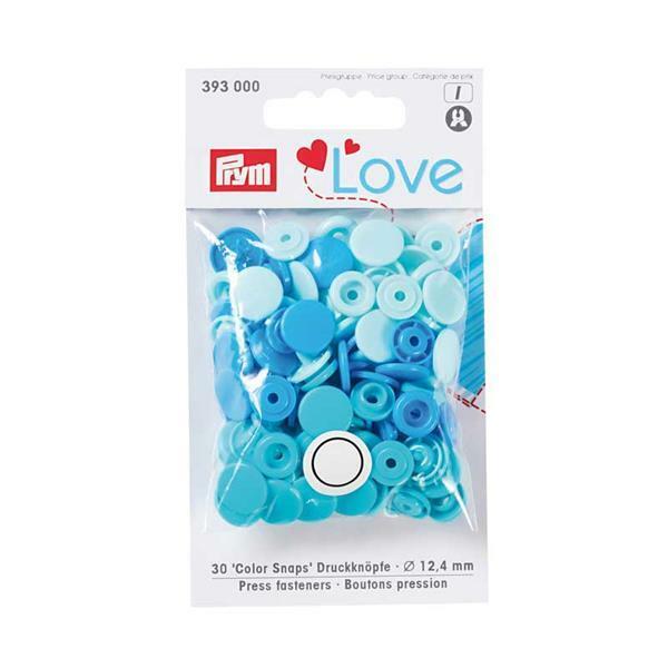 Drukknopen Color Snaps - 30 st., Ø 12,4 blauwmix