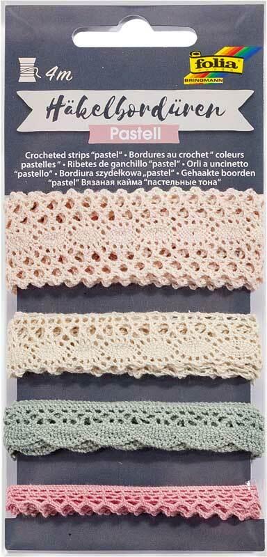 Bordures crochetées - 4 m, pastel