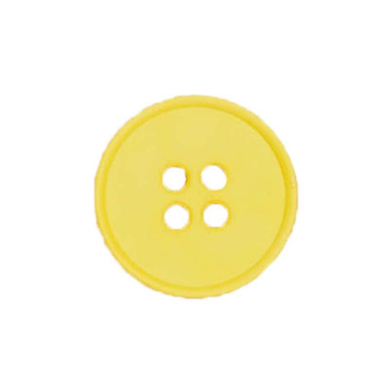 Boutons 4 trous - Ø 15 mm, jaune