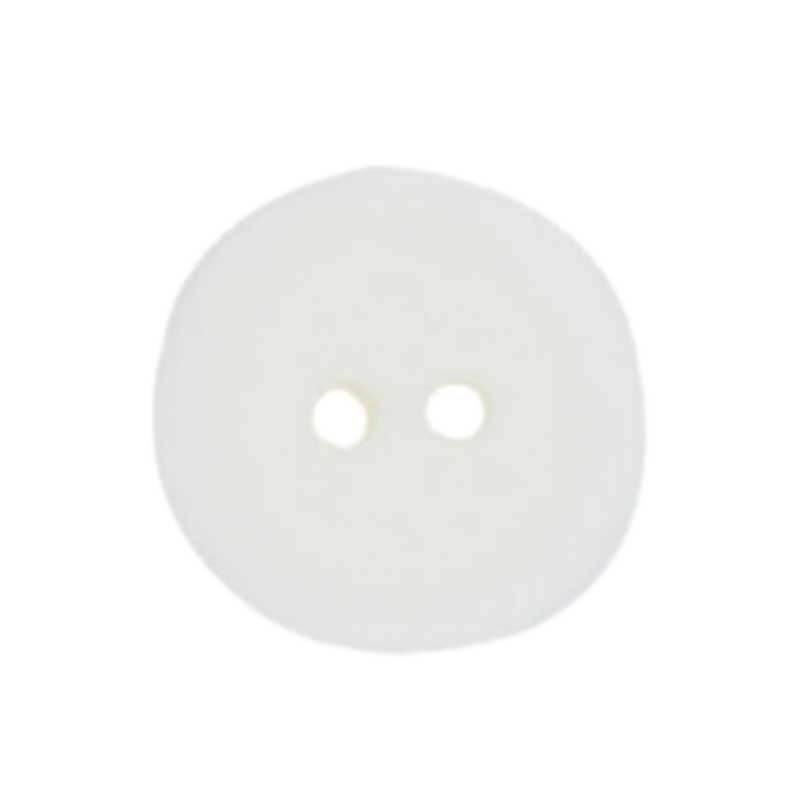 Boutons 2 trous - Ø 18 mm, blanc