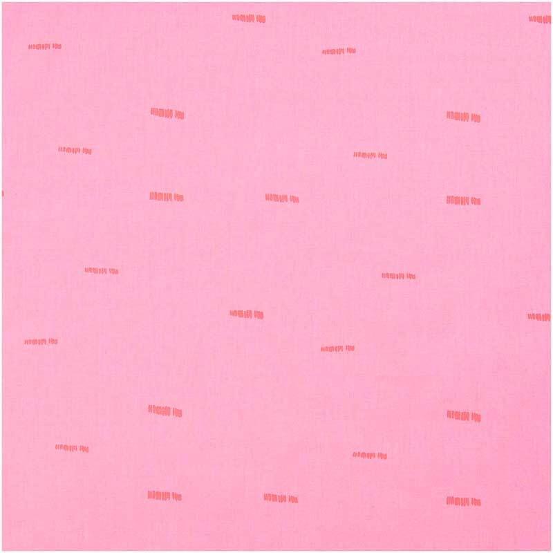 Baumwollstoff - bedruckt, pink/Striche neon
