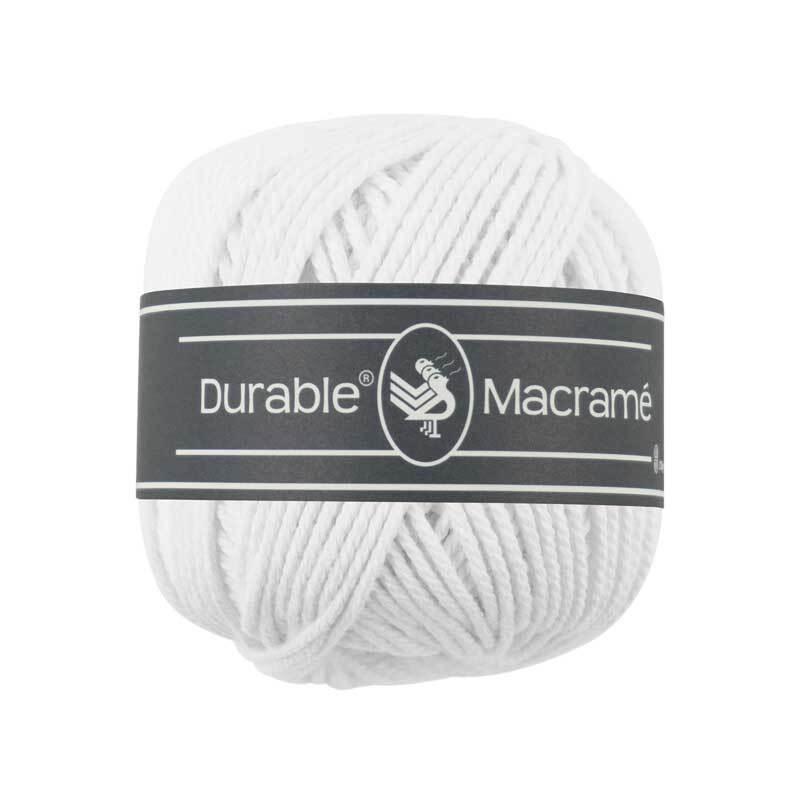 Fil Durable Macramé - Ø 2 mm, blanc