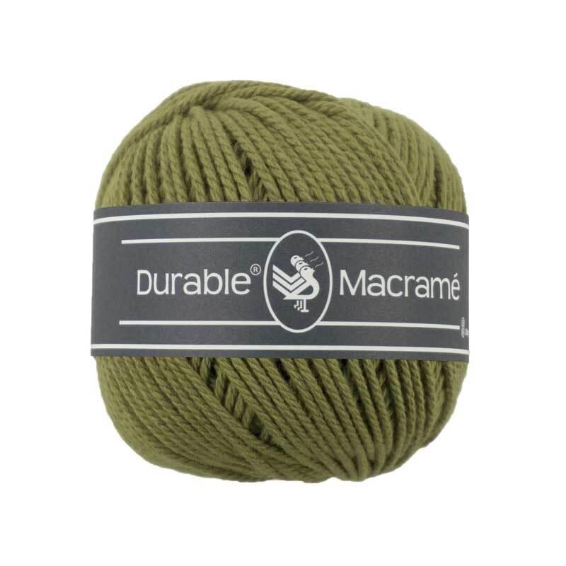 Makrameegarn Durable Macramé - Ø 2 mm, khaki