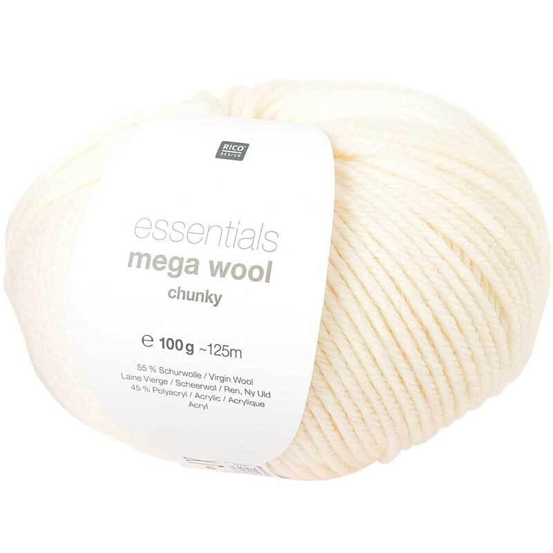 Laine Essentials Mega Wool - 100 g, crème