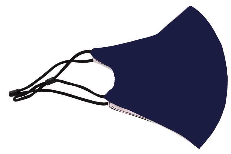 Mondkapje katoen - verstelbaar, navy