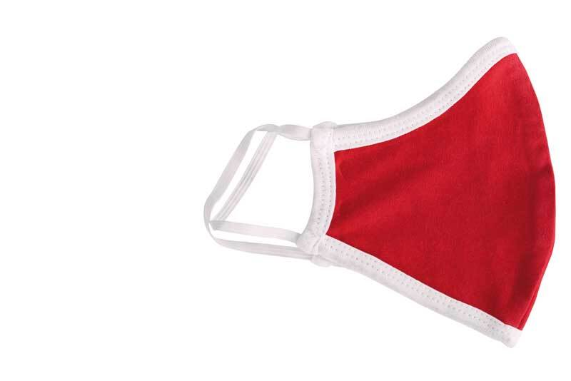 Schutzmaske Jersey - Kinder, rot