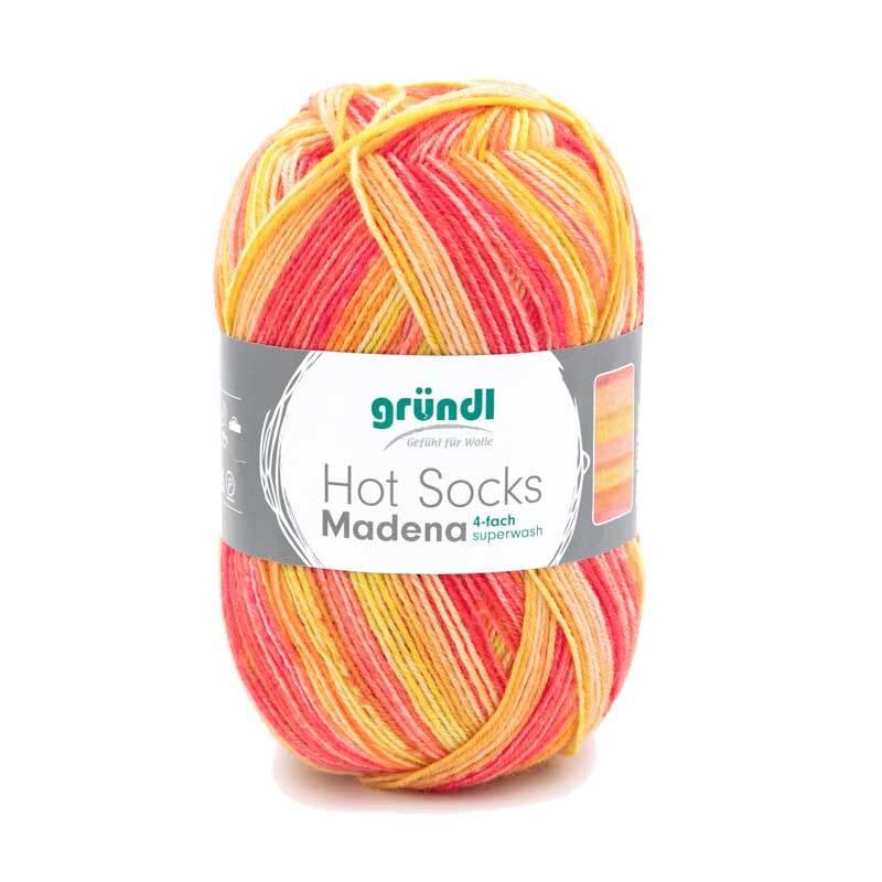 Sokkenwol Hot Socks Madena - 100 g, sunrise