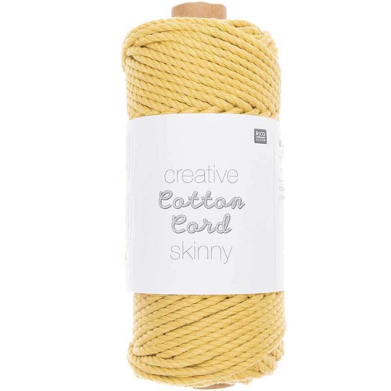 Corde macramé Cotton Cord Skinny - Ø 3 mm, jaune