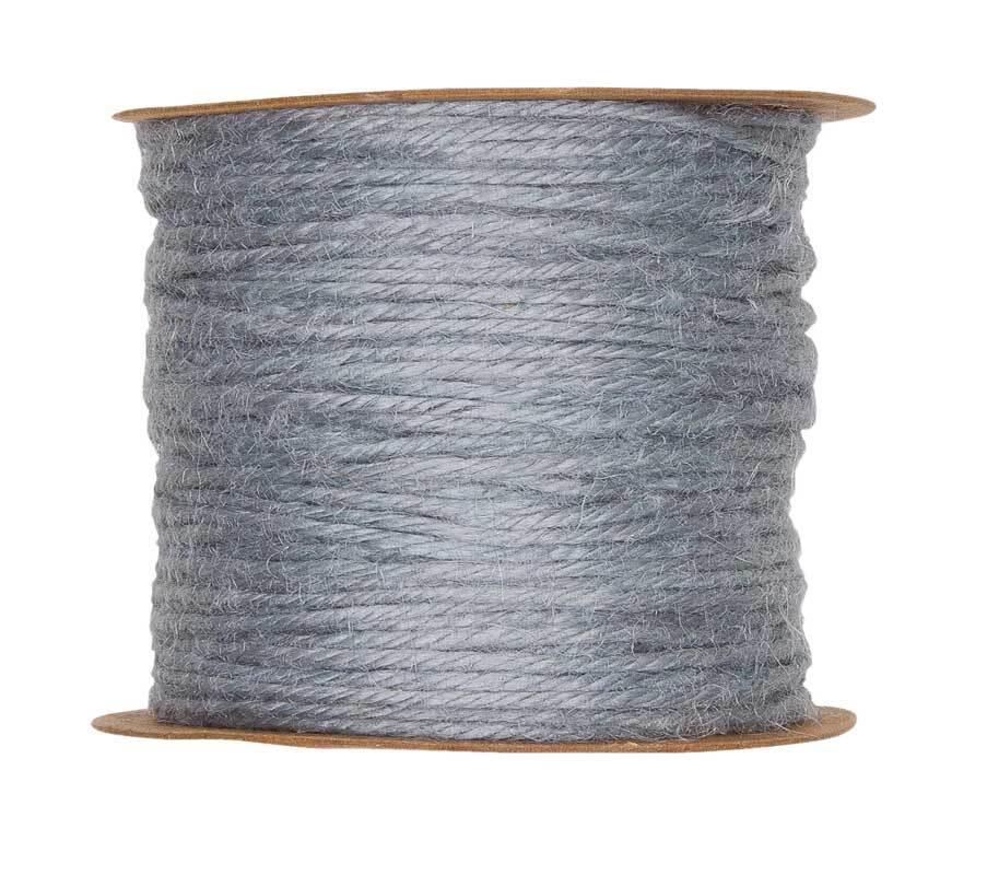 Jutekordel - Ø 2 mm, grau