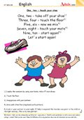 One, two - touch your shoe: A little rhyme