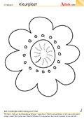 Kleurplaat bloempje