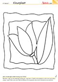 Kleurplaat afbeelding bloem
