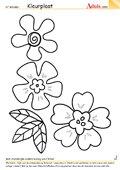 Kleurplaat bloementrio