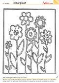 Kleurplaat bloemenweide